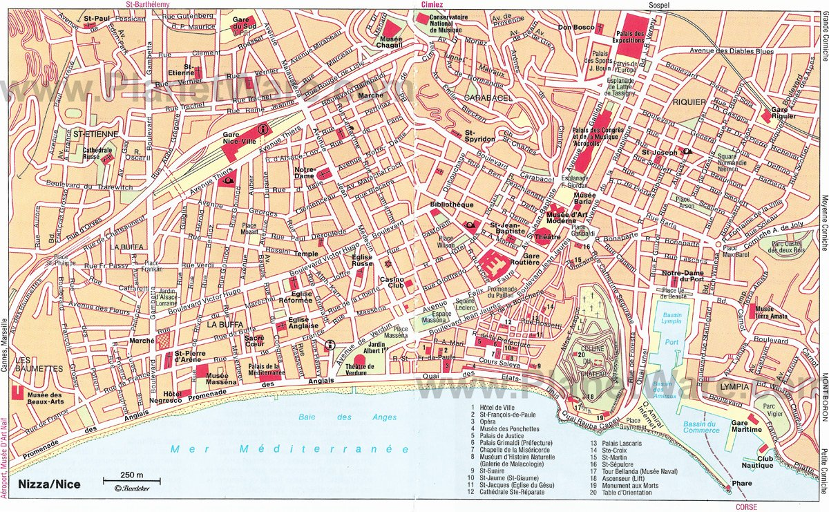 Nice Map - Tourist Attractions